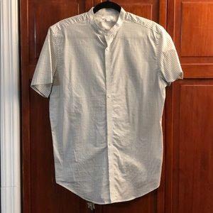 Collarless Men's Calvin Klein short sleeved shirt
